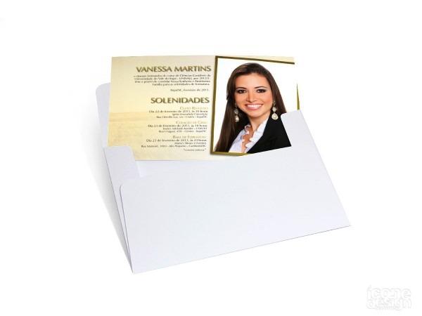 Convites postal simples