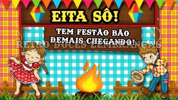 Convite animado festa junina no elo7