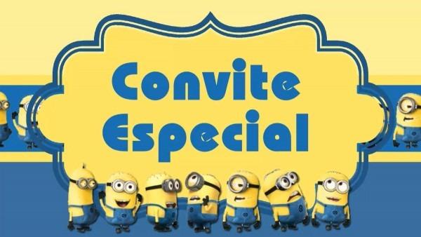 Convite animado minions