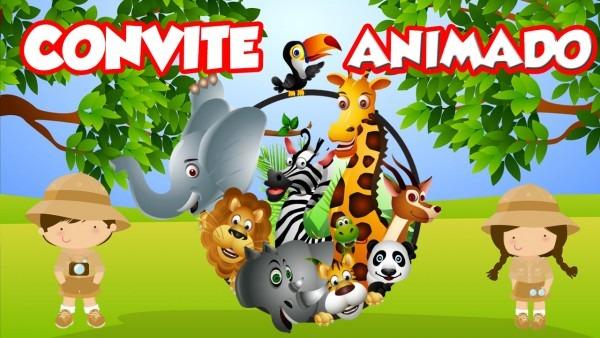 Convite animado safari no elo7