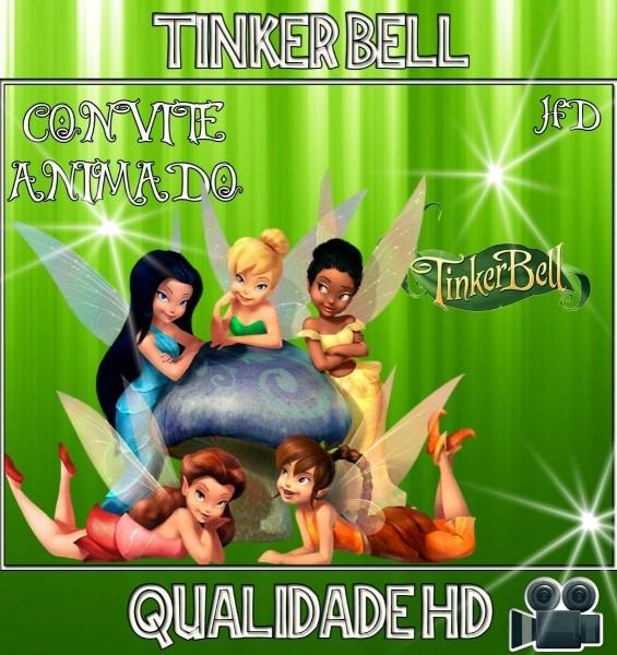 Convite animado (vídeo) aniversário tinker bell