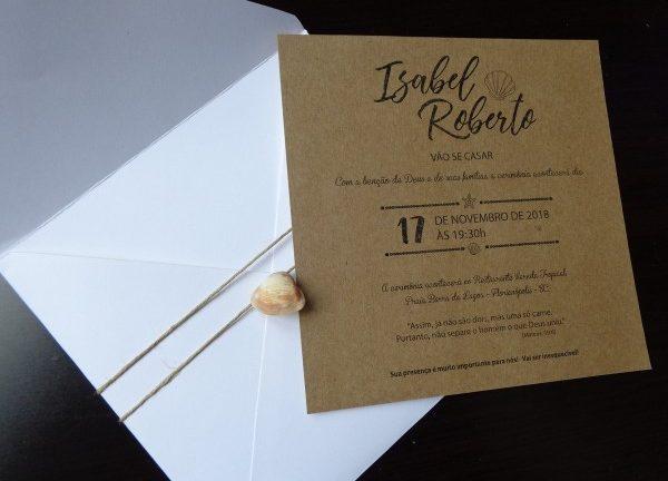 Envelope convite de casamento com renda