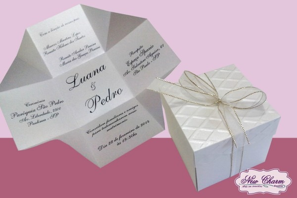 Convite caixinha casamento no elo7
