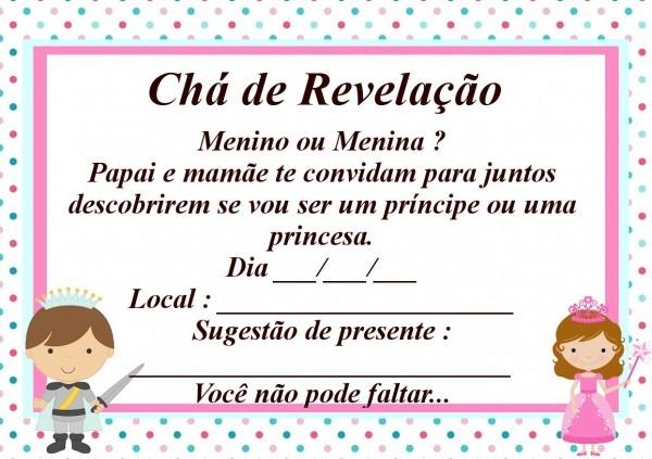 Convite chá de revelação com envelope no elo7