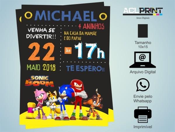 Convite chalkboard digital