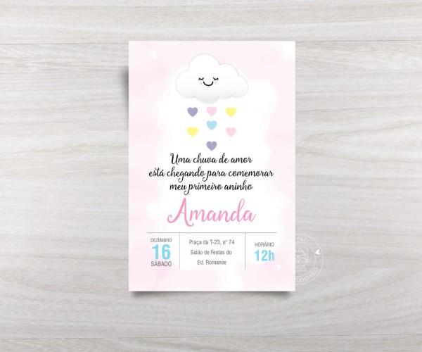 Convite chuva de amor digital