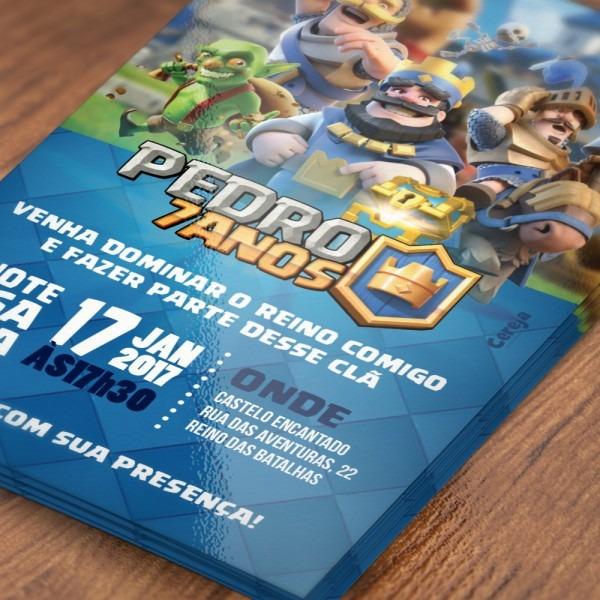 Convite clash royale (artedigital) no elo7