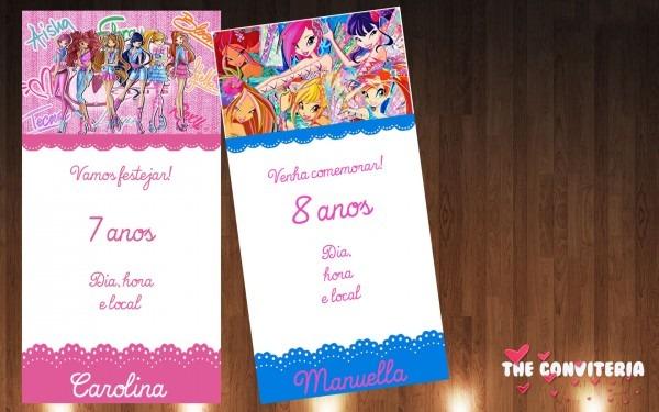 Convite clube das winx no elo7