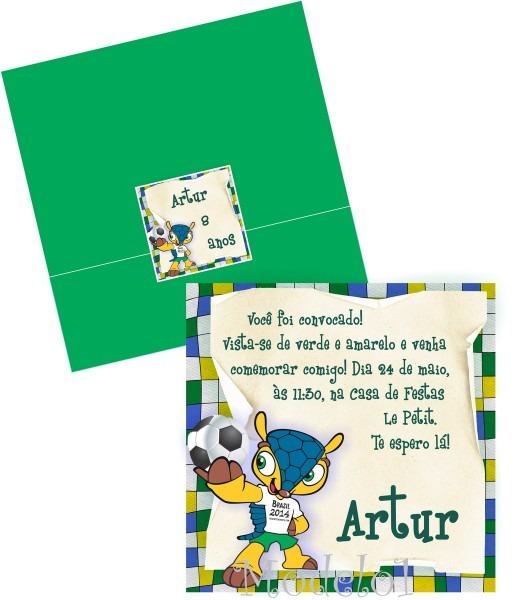 Convite copa no brasil no elo7