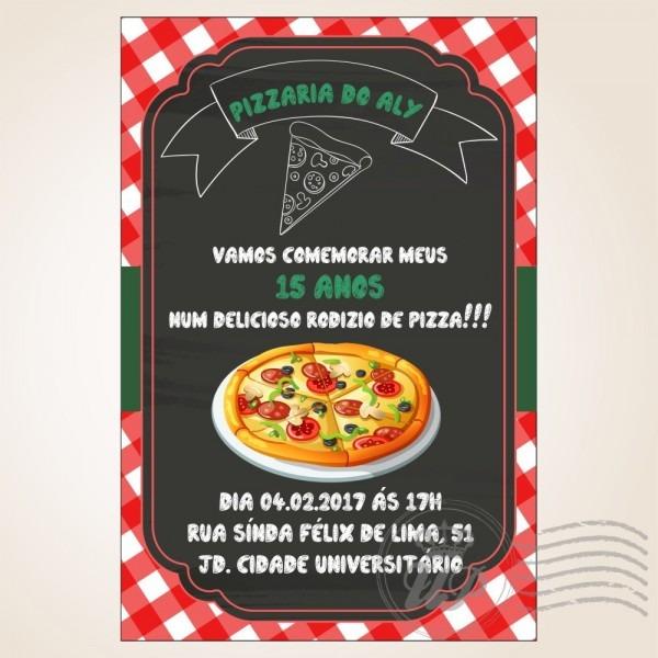 Convite de aniversario rodizio de pizza 5 » happy birthday world