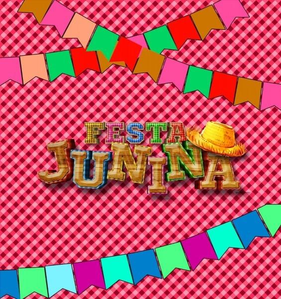 Convite de aniversário virtual animado festa junina