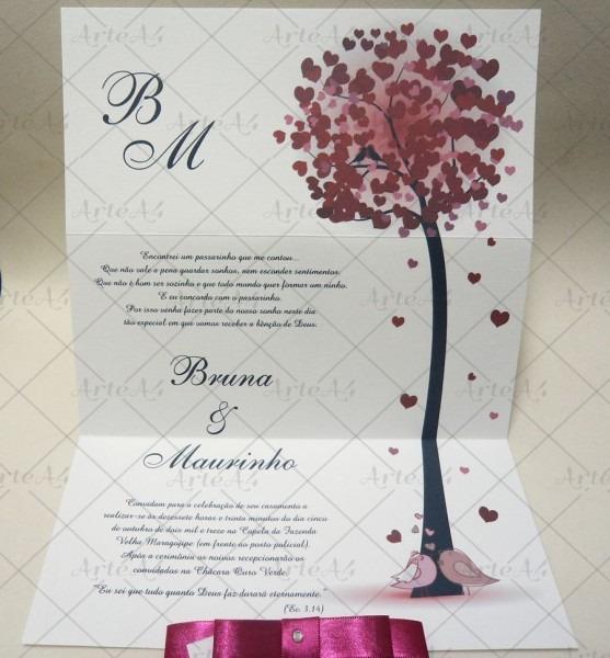 Convite de casamento Árvore no elo7