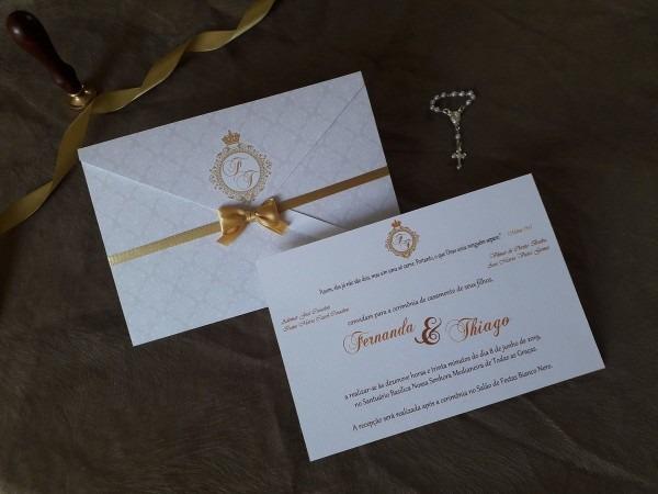Convite de casamento clássico tradicional no elo7