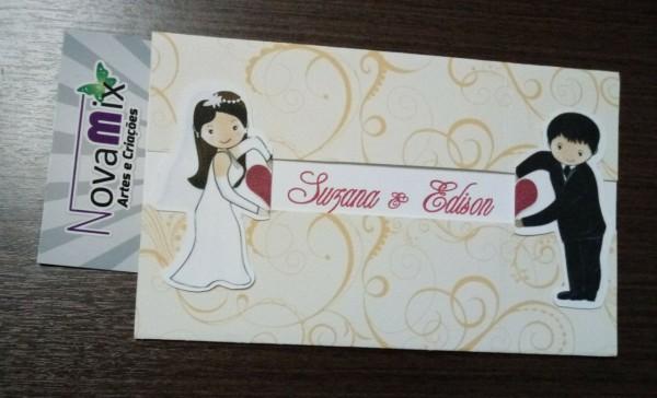 Convite de casamento encontro do noivos no elo7
