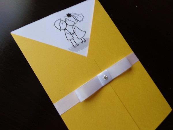 Convite de casamento amarelo no elo7