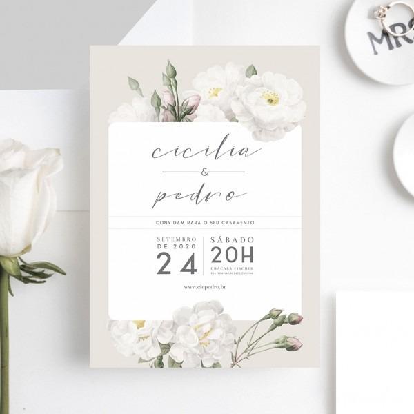 Arte para convite de casamento vintage modern – papel e letra