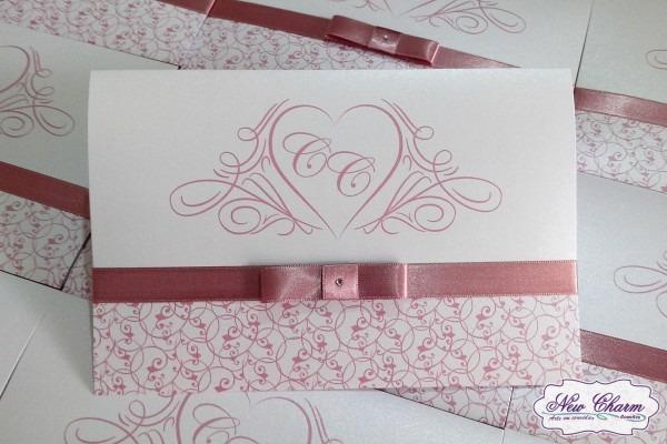 Convite de casamento rose no elo7
