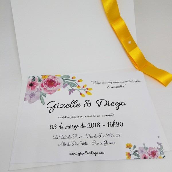 Convite de casamento viena no elo7