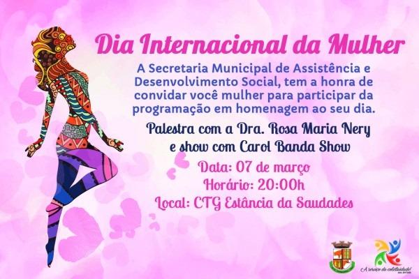 Grande evento marcará o dia internacional da mulher, em crissiumal