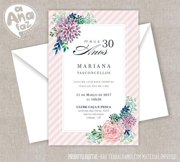 Convite digital aniversário 42 no elo7