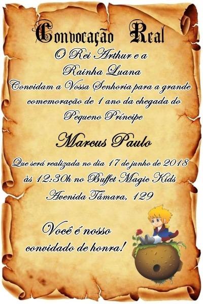 Convite digital aniversário convocação pequeno príncipe!!!