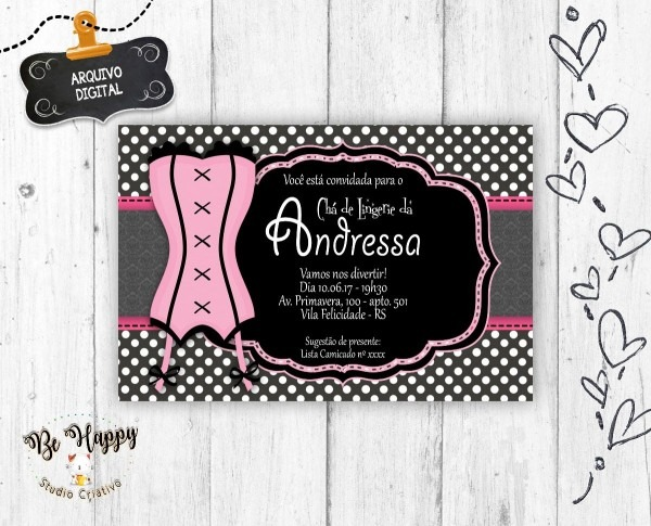 Convite chá de cozinha editavel – cozinha webpage
