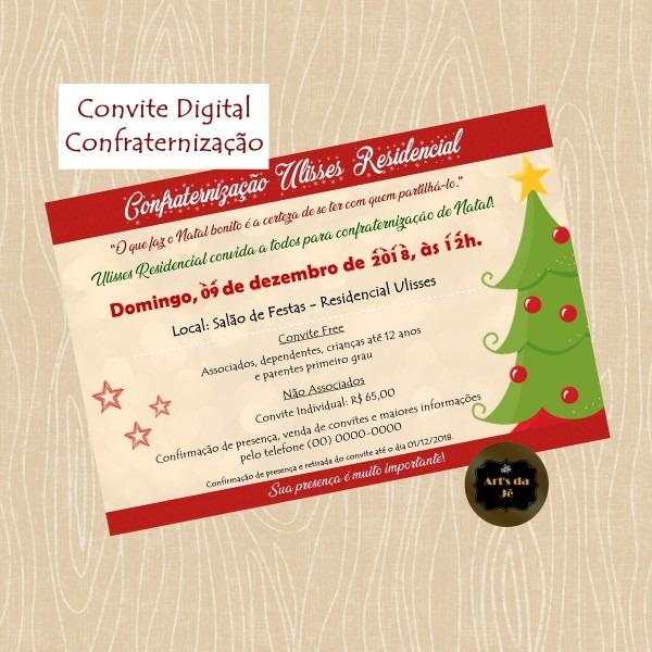 Convite digital confraternização no elo7