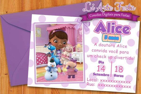 Convitel doutora brinquedos (arte digital) + lacre grátis no elo7