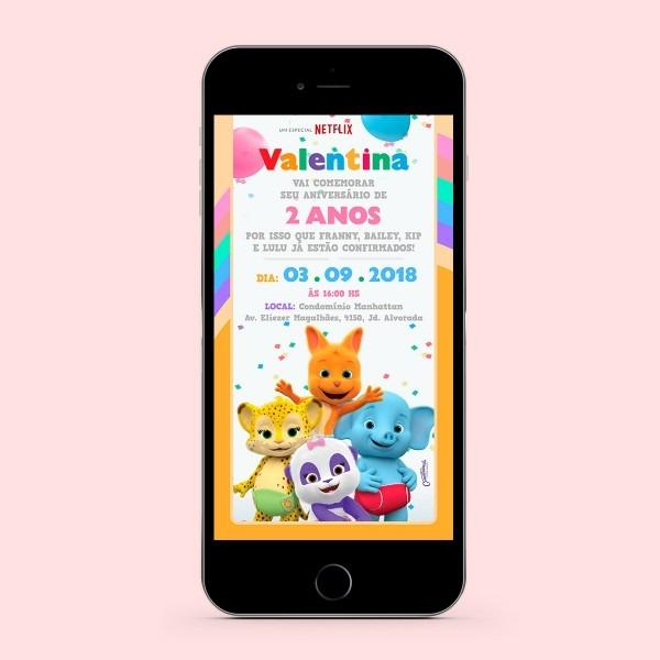 Convite digital festa de palavras no elo7