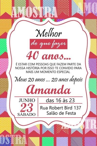 Convite digital festa junina no elo7