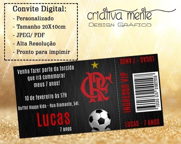 Convite digital ingresso flamengo 02