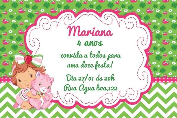 Convite digital moranguinho baby