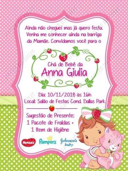 Convite digital moranguinho baby no elo7