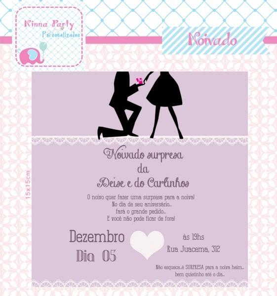 Convite de noivado em sp