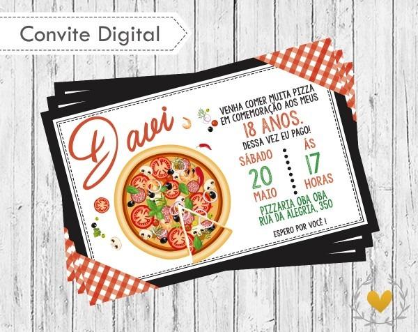 Convite digital pizzaria no elo7