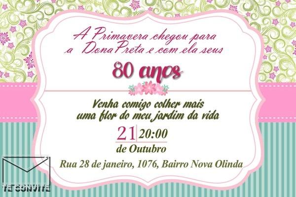 Convite digital primavera no elo7