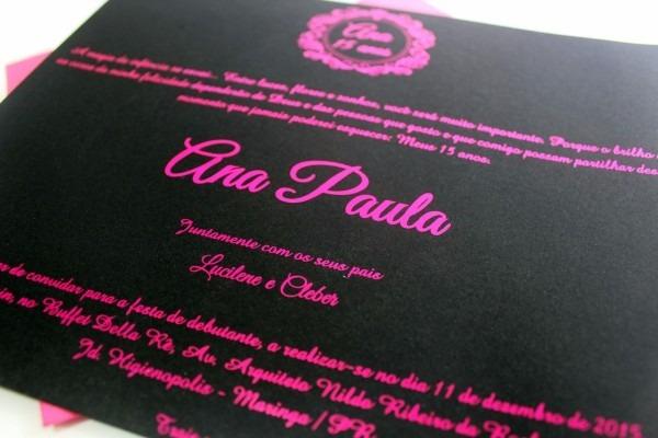 Convite el amor rosa pink e preto   hot