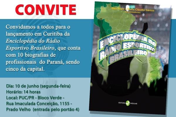 """Lançamento da """"enciclopédia do rádio esportivo brasileiro"""
