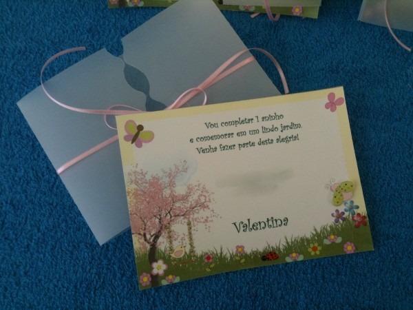 Convite festa infantil tema jardim no elo7