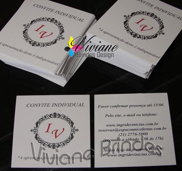 Convite individual de casamento + lista de presente 500und