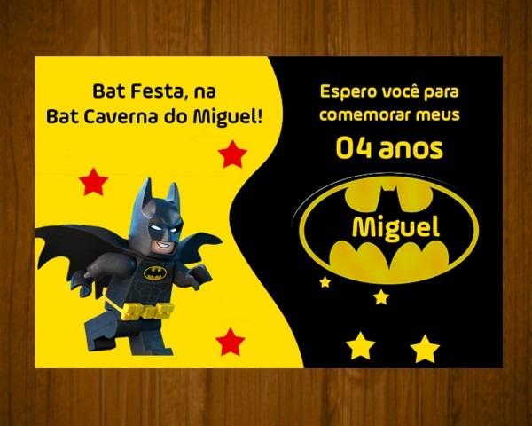 Convite lego batman 7x10 no elo7