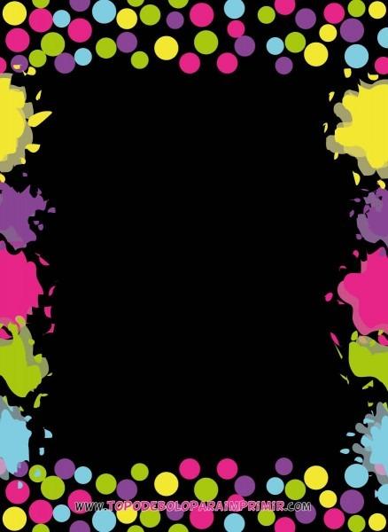 Convite neon para editar 02