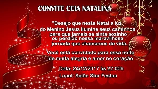 Convite noite de natal no elo7