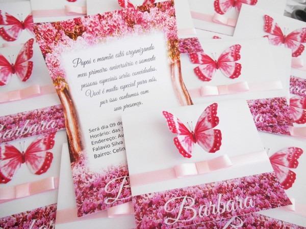 Convite festa jardim encantado borboletas festa princesas no elo7