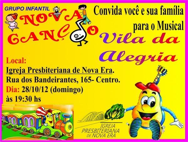 Blog do rev  juba  convite para cantata infantil do grupo nova