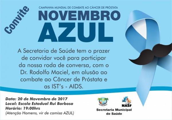 Novembro azul  saúde realiza palestra sobre câncer de próstata –