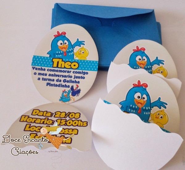 Convite ovo galinha pintadinha no elo7
