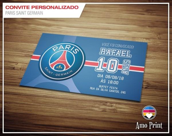 Convite paris saint germain no elo7