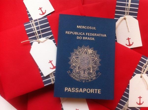 Convite passaporte marinheiro no elo7
