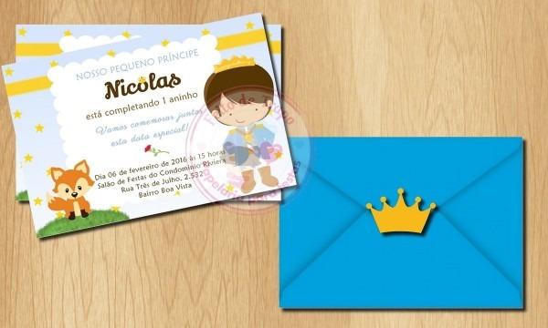Convite pequeno príncipe no elo7